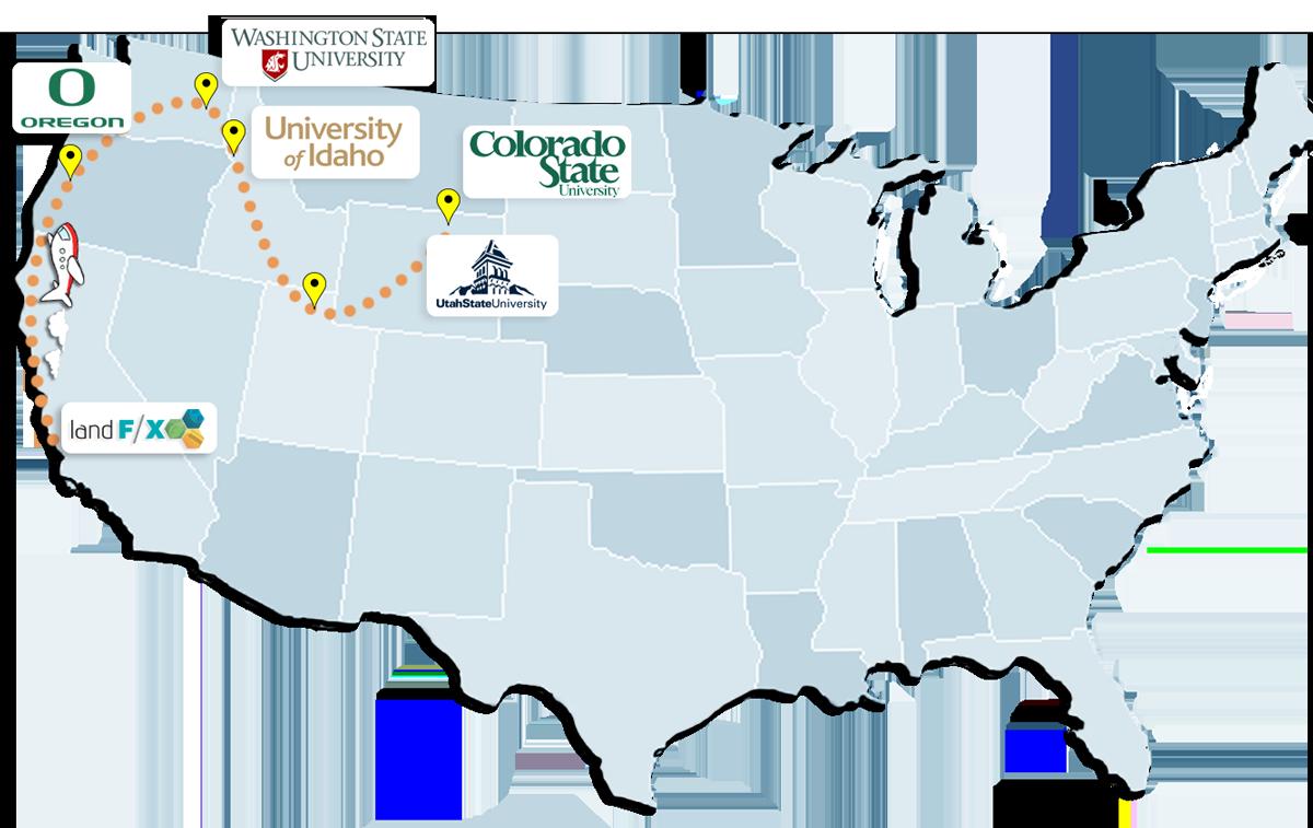 2013 University Tour Map