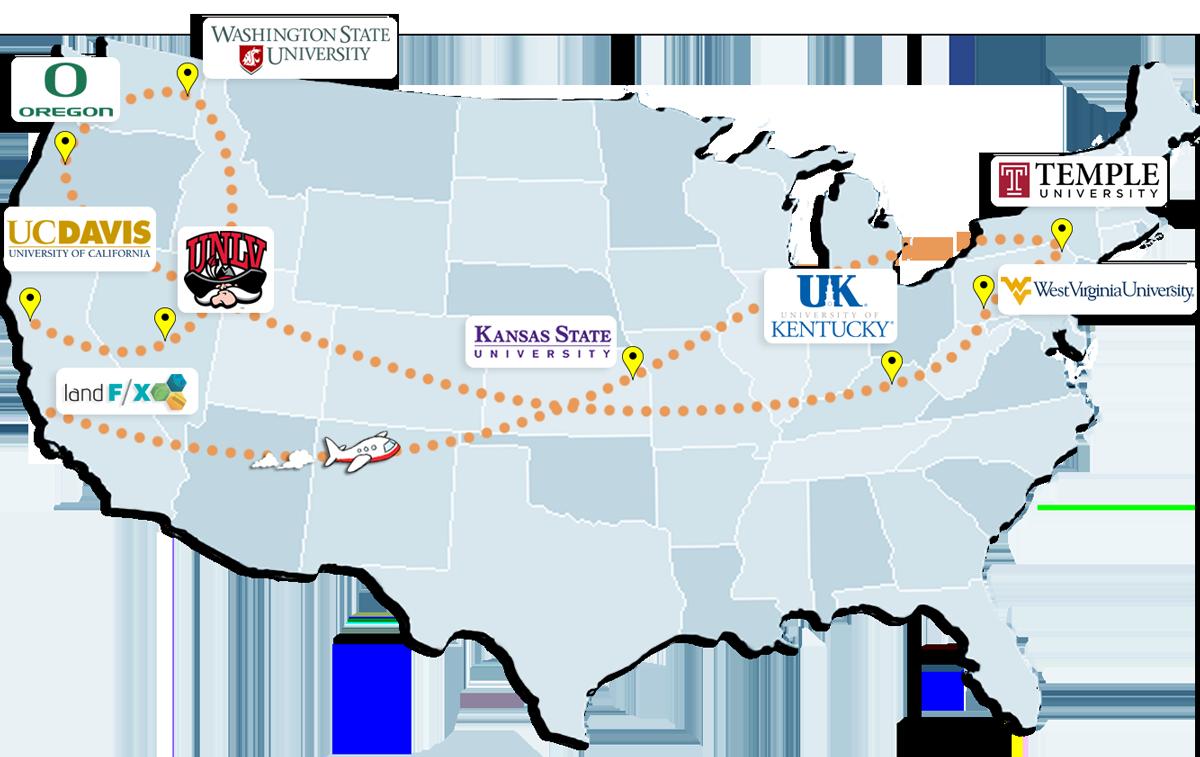 2016 University Tour Map