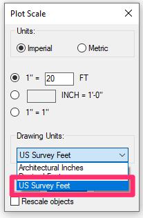 Set the Scale & Units