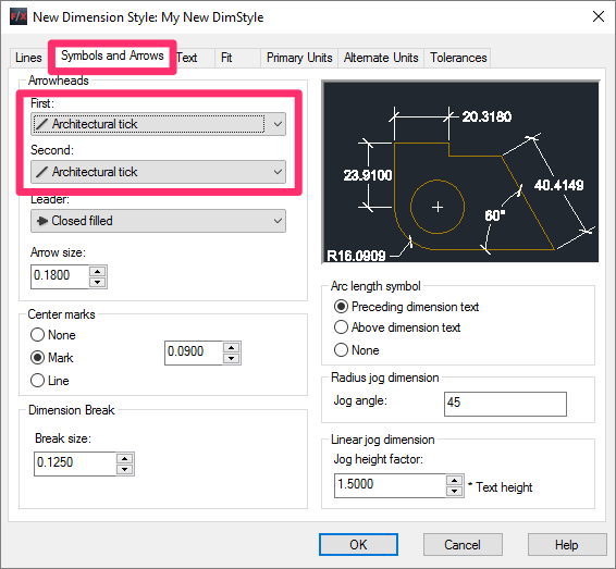 how to change dimstyle in autocad