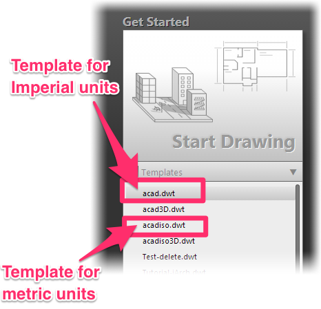 Download the Default AutoCAD Drawing Templates (DWT Files)
