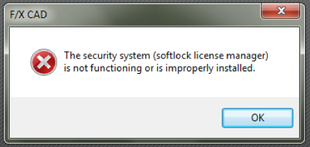 The Security System (Softlock License Manager) is Not