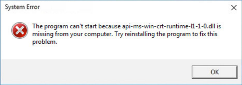 System Error: This Program Can't Start Because api-ms-win