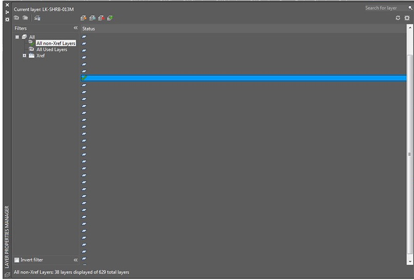 Layers and Layer Columns Not Visible in Layer Properties Manager