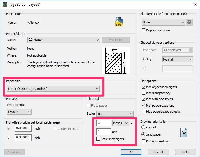 how to set feet and inches in autocad