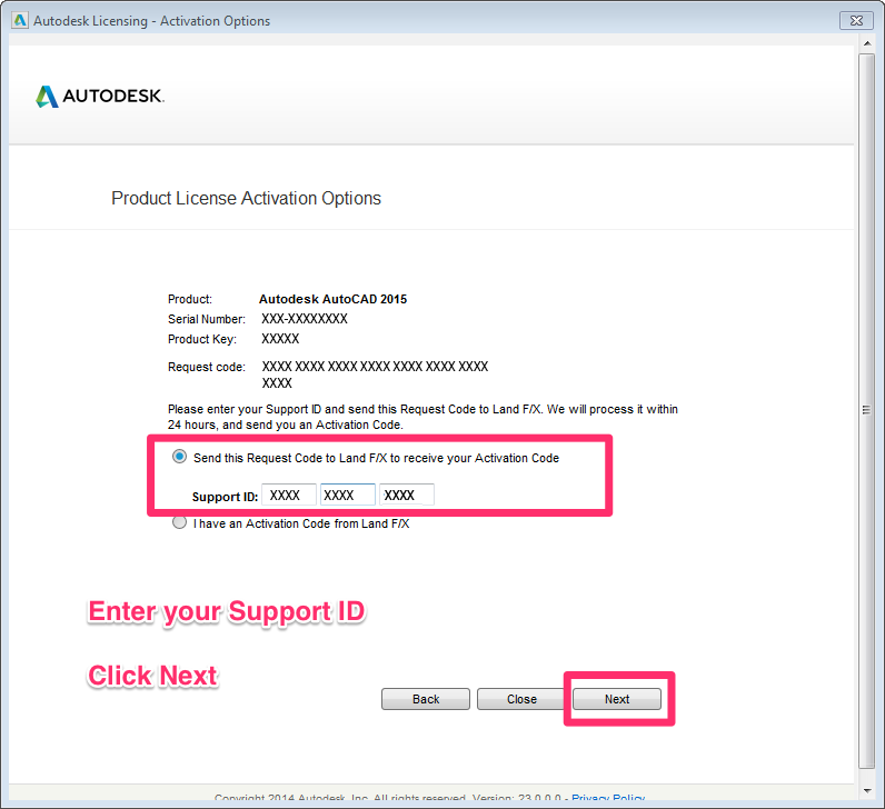 activation code generator for autocad 2014
