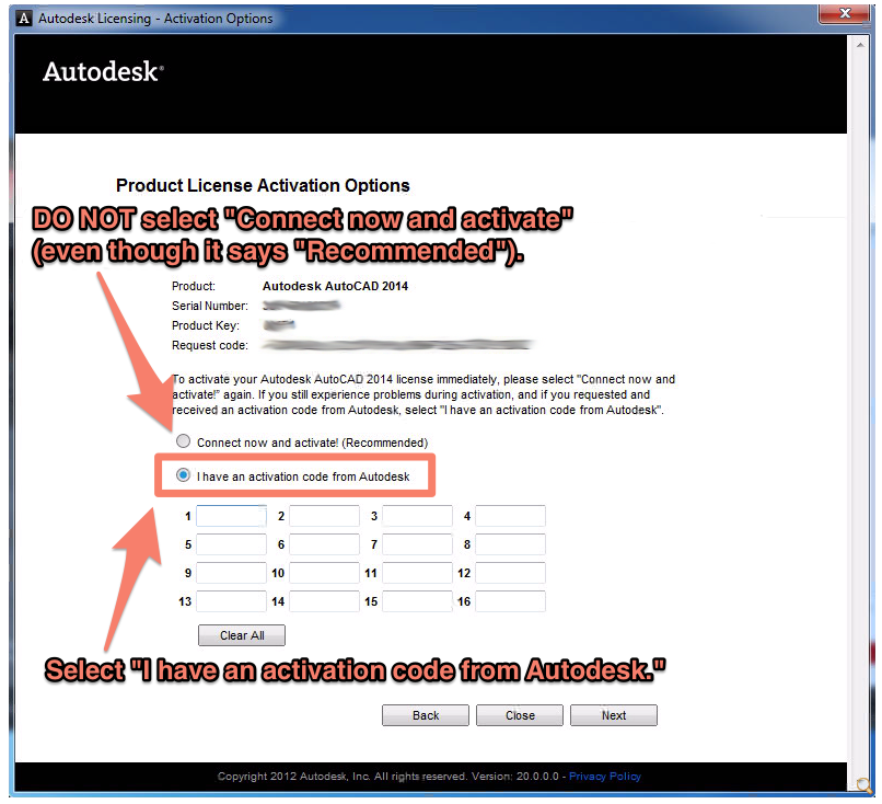 autocad 2013 activation code for product key 001e1