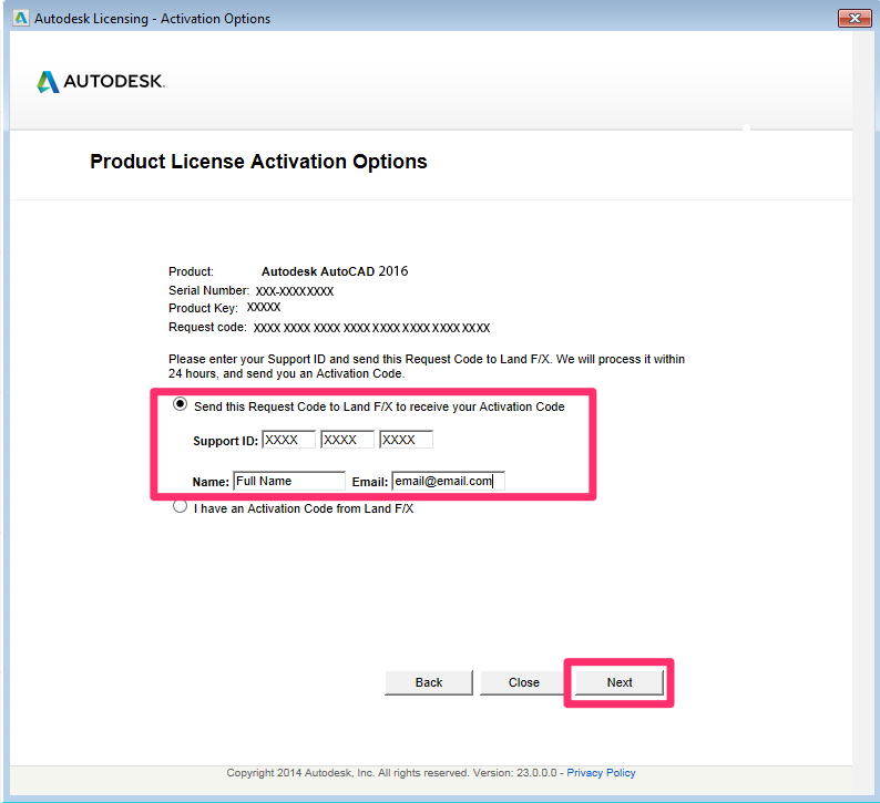 activation code autocad 2014 lt