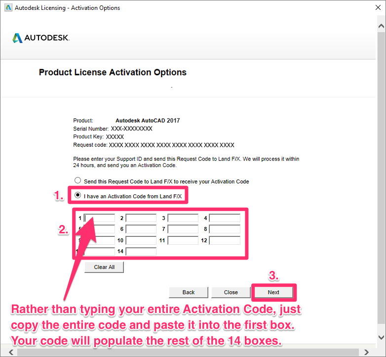 autocad 2014 registration activation error 0015 111