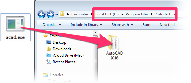 how to create dxe file in autocad