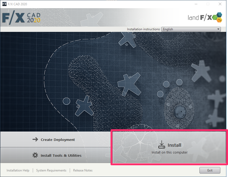 Install Land F/X with F/X CAD 2020 Using Cloud Data (Express Install)