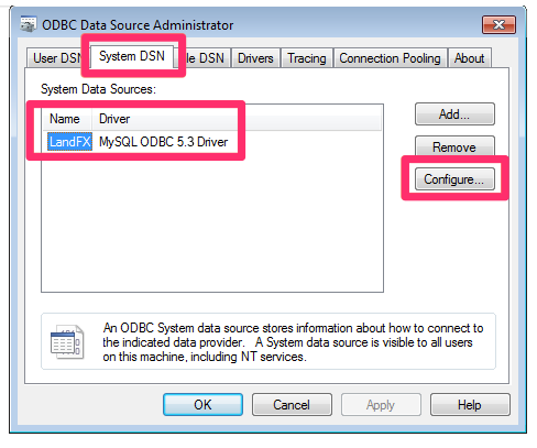 Configure the ODBC Data Source to Use Your IP Address