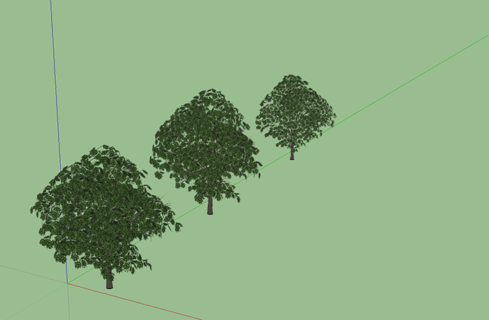 SketchUp: Place Tree Tool