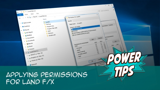 Power Tip: Applying Permissions for Land F/X