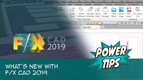 Power Tip: What's New with FX CAD 2019