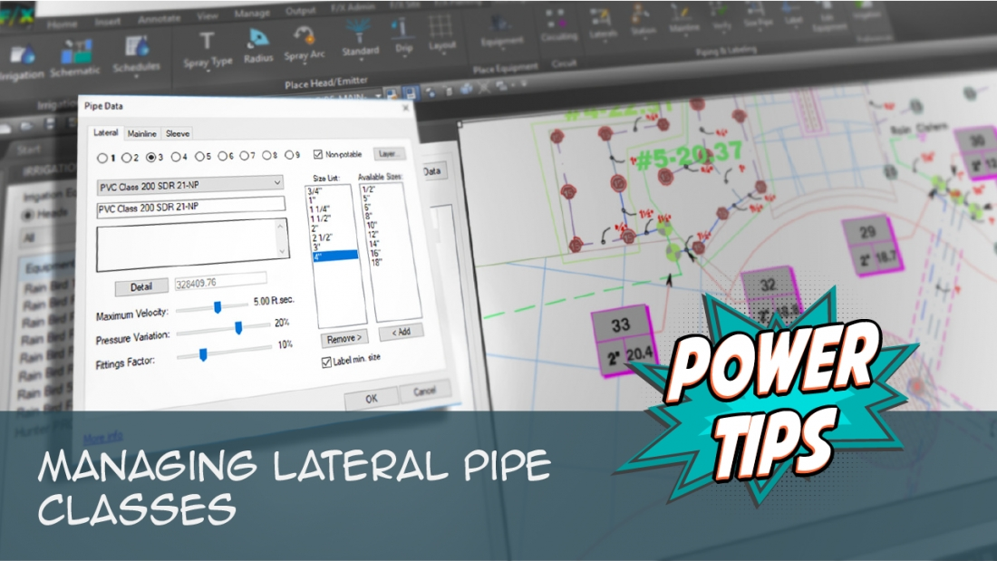 Power Tip: Managing Lateral Pipe Classes