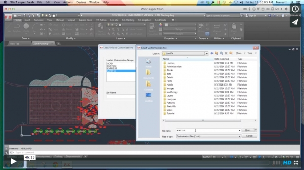 Customizing AutoCAD & F/X CAD 2015