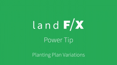 Power Tip: Planting Plan Variations