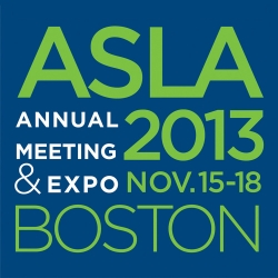 Meet us in Bean Town for ASLA 2013
