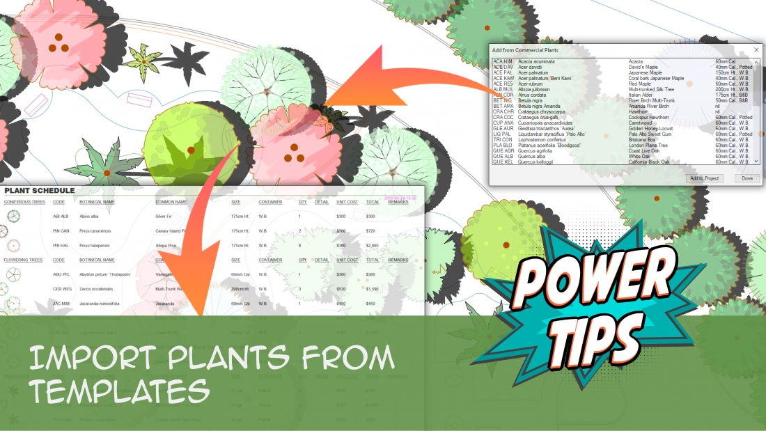 Power Tip: Import Plants from Templates
