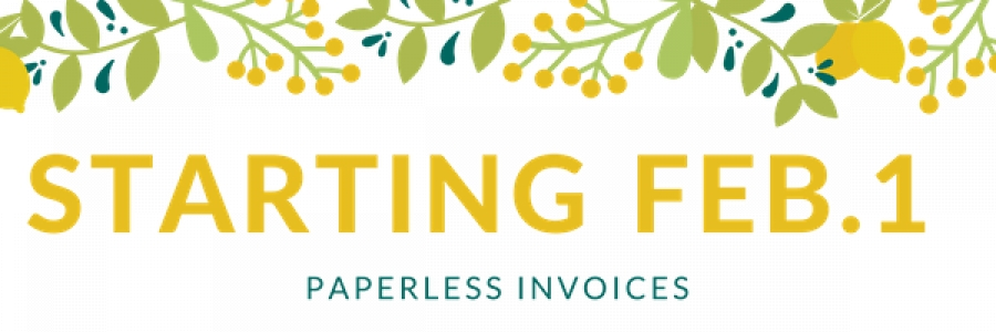Land F/X Announcement: Paperless Invoices