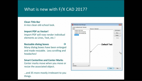 What's New with Land F/X Version 13.0 and F/X CAD 2017