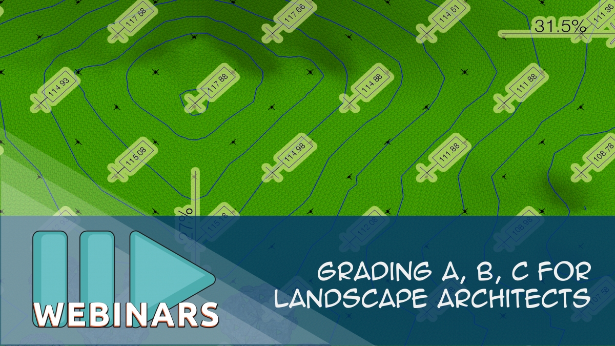 Grading A, B, C for Landscape Architects