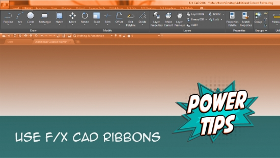 Power Tip: Using our Customized AutoCAD Ribbons