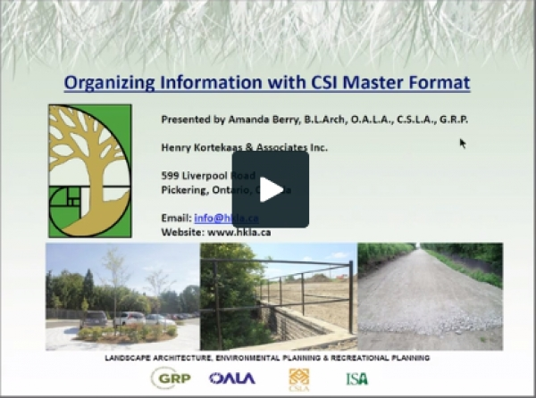 Using CSI Format for Organization