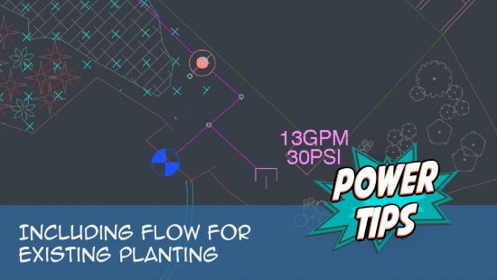 Power Tip: Including Flow For Existing Planting