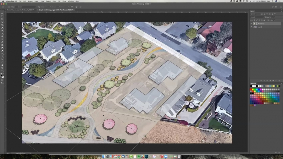 Superimposing a Landscape Plan onto Existing Site Photos