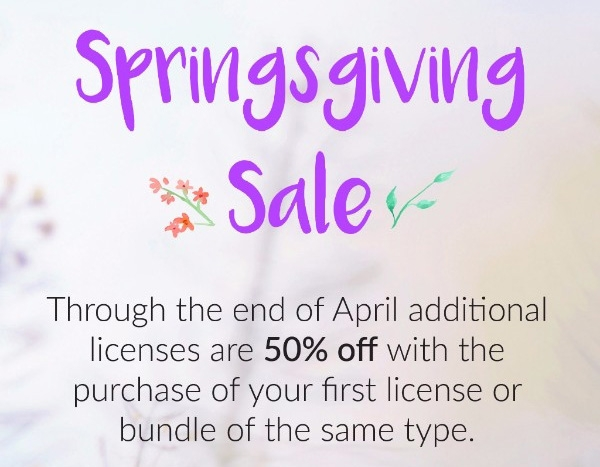 Springsgiving Sale Info