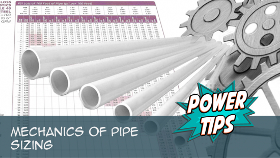 Power Tip: Mechanics Of Pipe Sizing