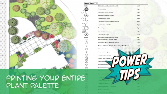 Power Tip: Printing Your Entire Plant Palette