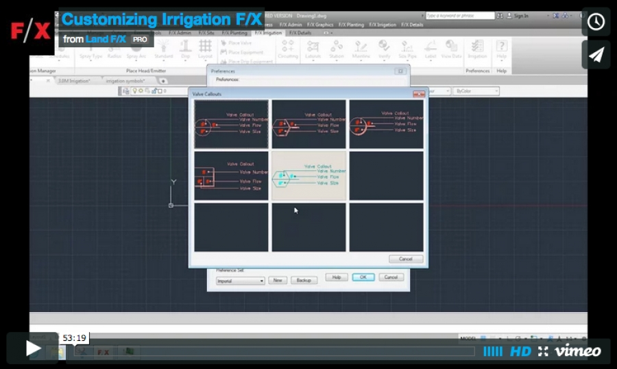 Customizing Irrigation F/X