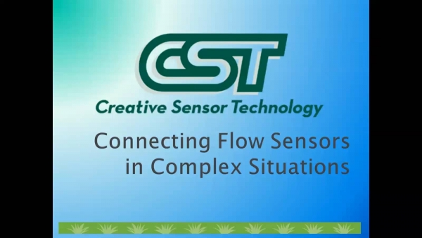 Connecting Flow Sensors in Complex Situations