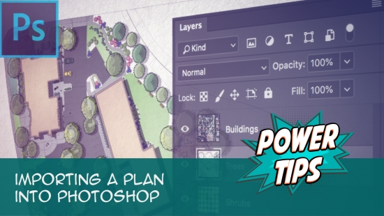 Power Tip: Importing a Plan into Photoshop