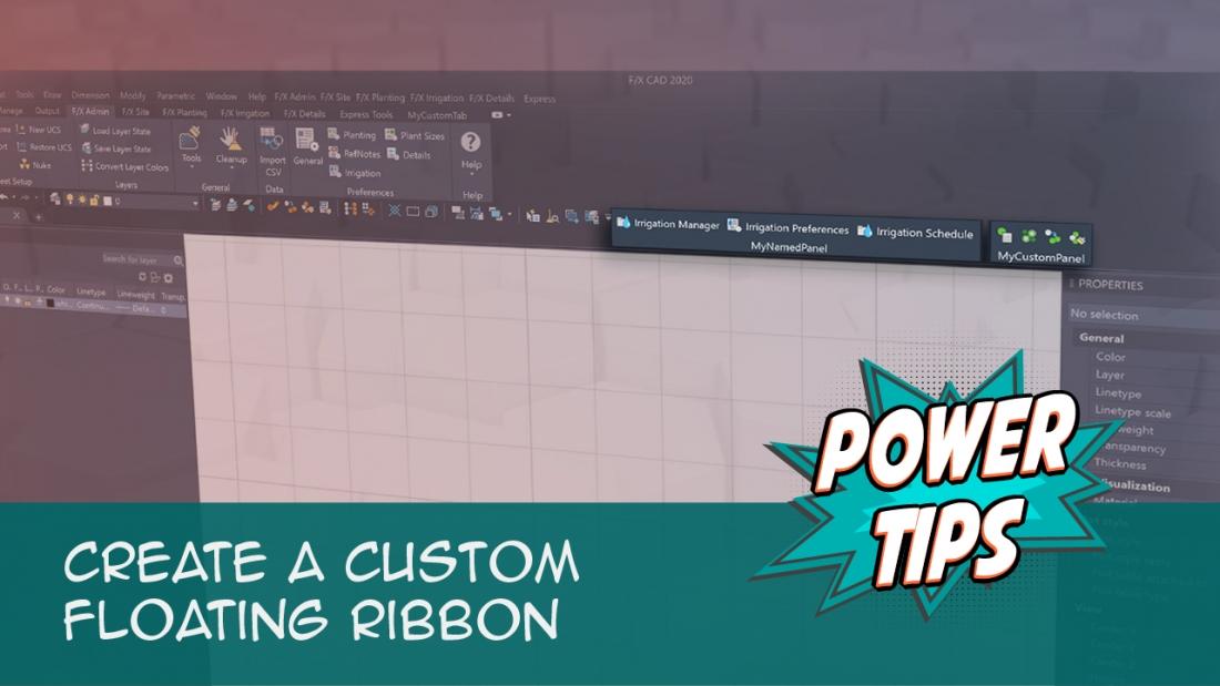 Create a Custom Floating Ribbon