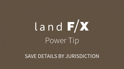 Power Tip: Save Details by Jurisdiction