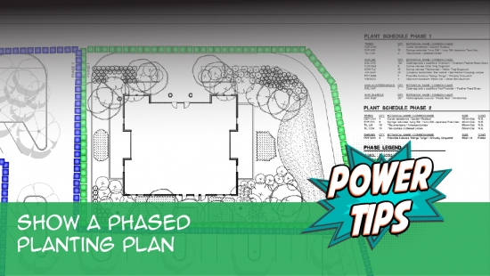 Power Tip: Show a Phased Planting Plan