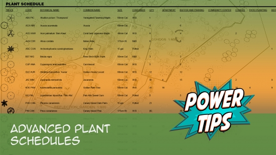 Power Tip: Advanced Plant Schedules